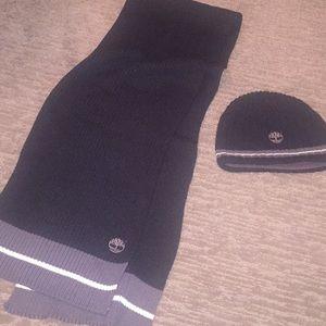 Men's  Timberland hat/scarf set